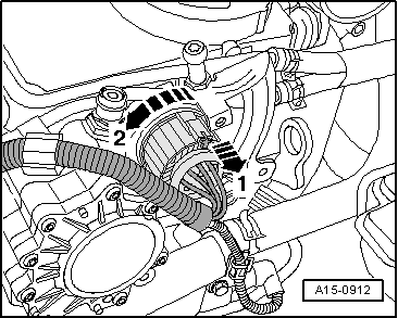 Removing_and_installing_pre Wiring_for_unit_injectors_and_glow_plugs_for_engine_with_engine_identification_characters_bkd_azv