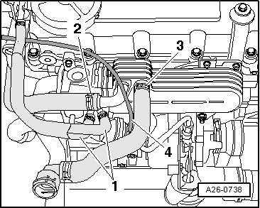 Viewtopic moreover 07K109283E besides Vr6 Engine Numbers 43619 likewise Vw passat breather hose crankcase hose also Removing and installing radiator for exhaust gas recirculation for engine with engine identification characters bkd azv. on vw passat engine cover