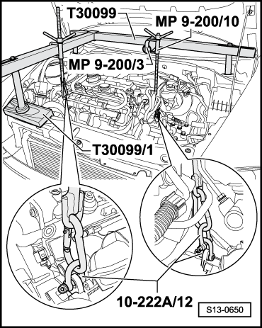 skoda engine cooling diagram with Adjusting The Unit Mounting on Radiator Heat Valves furthermore 2006 Vw Jetta Fuse Box Diagram together with Adjusting the unit mounting likewise Removing besides R50 Mini Cooper Cooling System Diagram.