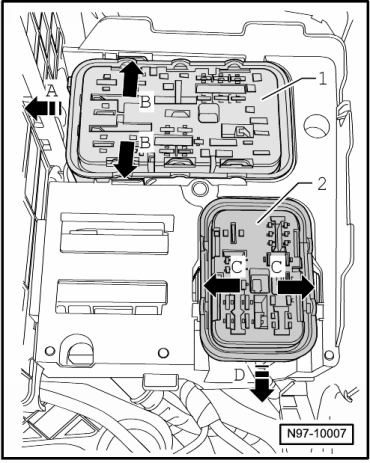 skoda workshop manuals > octavia mk2 > vehicle electrics ... skoda octavia mk1 fuse box