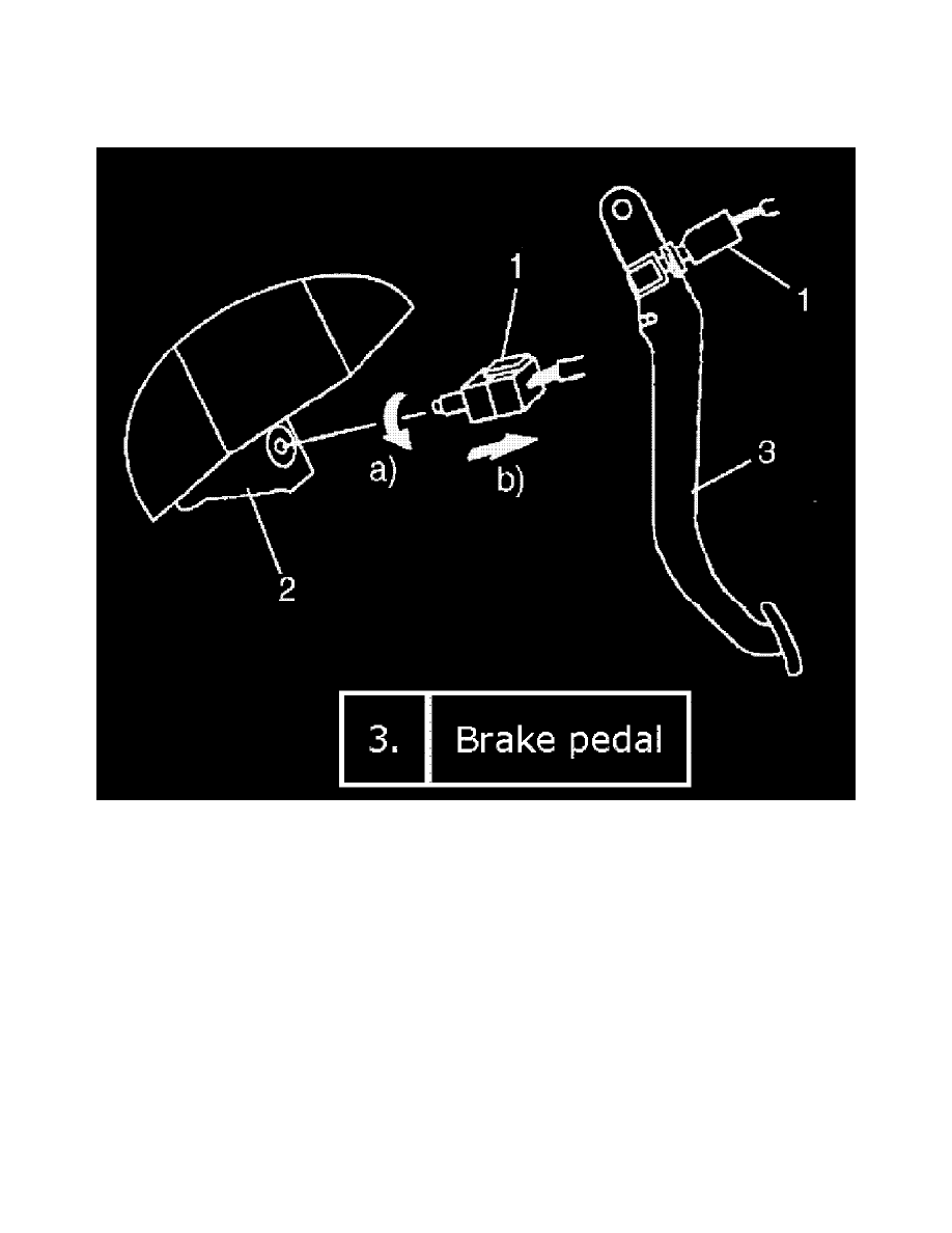 Cruise Control > Brake Switch (Cruise Control) > Component Information >  Testing and Inspection