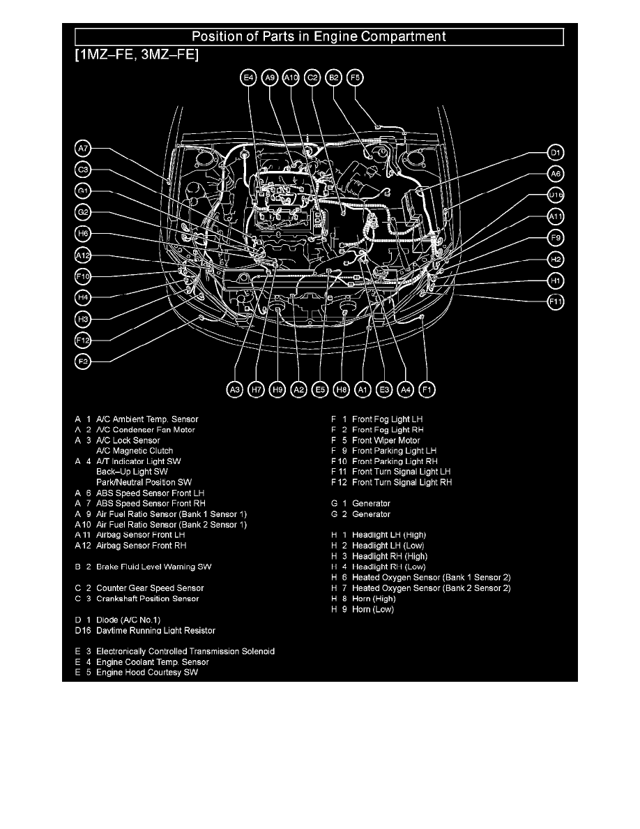 Camry V6 Cooling Diagram Trusted Schematics Toyota Le Engine Of 2012 Workshop Manuals U003e 3 3l 3mz Fe 2005 2013 Se Black