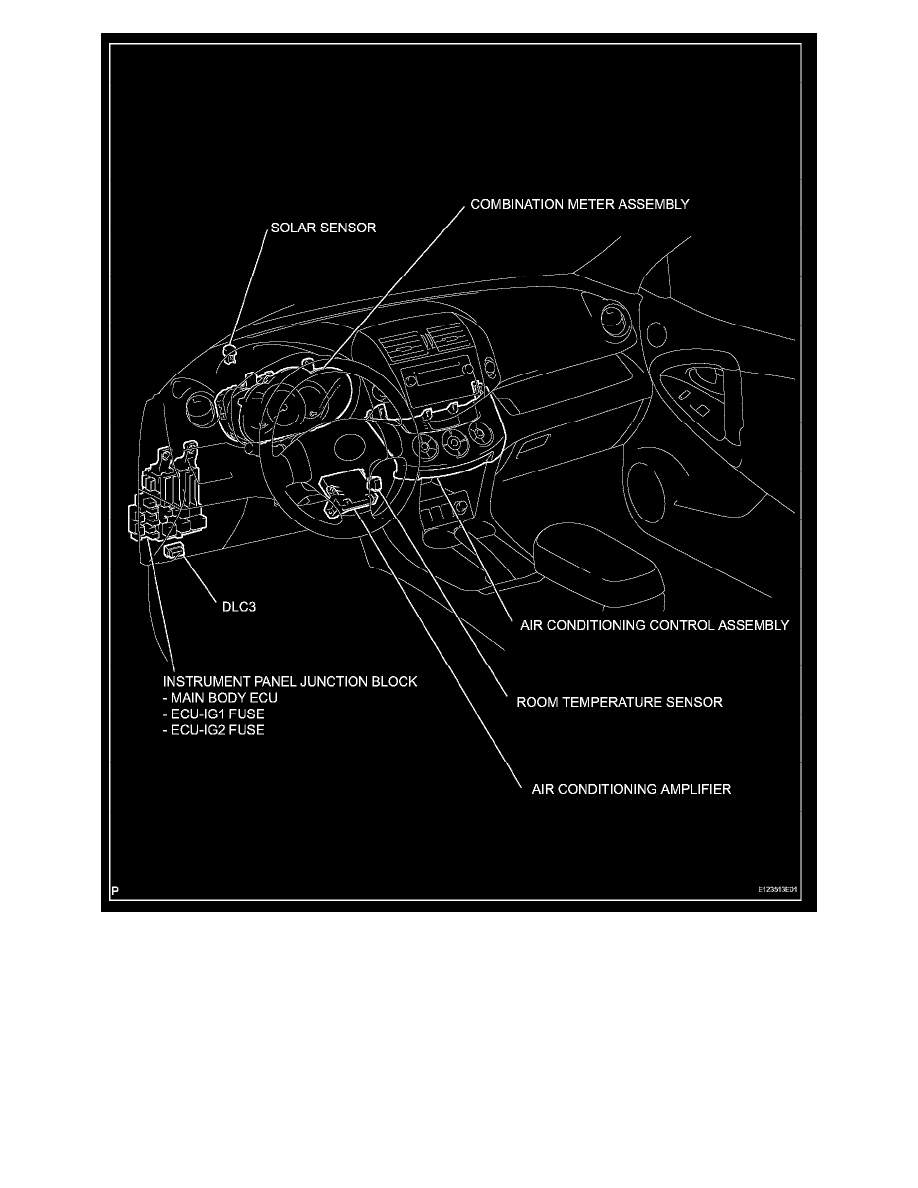 Toyota RAV4 Service Manual: Solar sensor (for automatic air conditioning system)