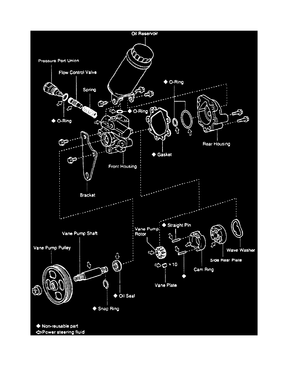Toyota Workshop Manuals > Taa 4wd V634l 5vzfe 1995. Steering And Suspension > Power Pump Ponent Information Service Repair Removal Installation Page. Toyota. 1995 Toyota Power Steering Diagram At Scoala.co