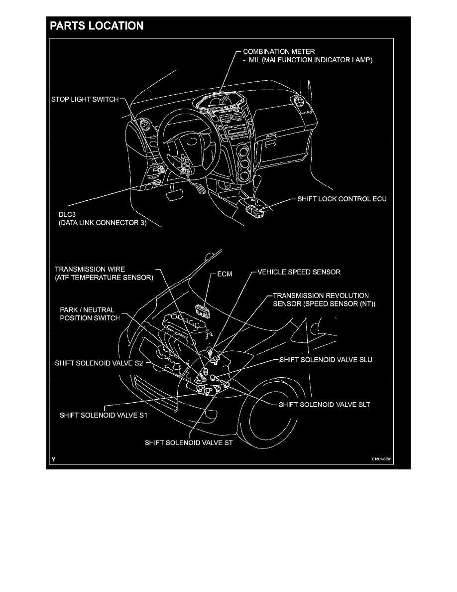 Toyota Transmission Wiring Archive Of Automotive Diagram 30 40le Workshop Manuals U003e Yaris L4 1 5l 1nz Fe 2007 Rh Com Pickup Harness