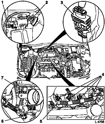 Vauxhall Workshop Manuals Gt Astra G Gt J Engine And Engine