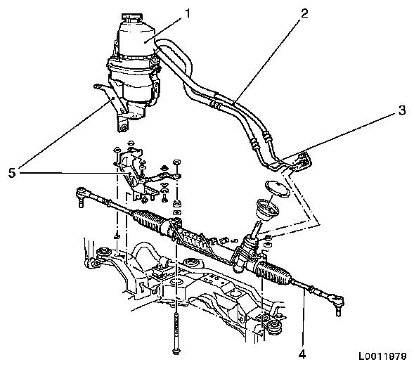 Illustration electro Hydraulic power steering  ehps ii trw on ford steering box diagram