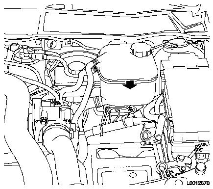 Replace coolant level sensor on cable header