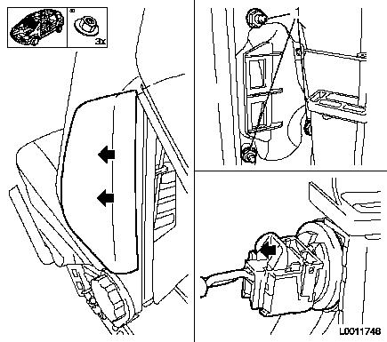 Replace side airbag  not deployed   front seat moreover 06 Ford Focus Fuse Box Diagram besides Lock cylinder for steering and ignition lock remove and install furthermore Coolant pump remove and install moreover Centre parking brake cable remove and install  vehicles with drum brakes. on wiring diagram for vauxhall zafira