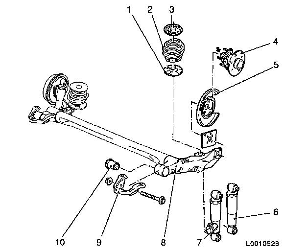 Vauxhall Workshop Manuals Astra H F Rear Axle And Rear Wheel