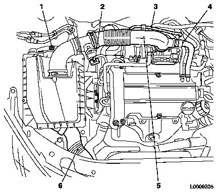 Replacing the air cleaner housing on engine wiring harness