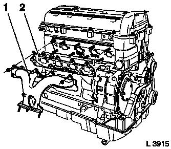Exhaust manifold furthermore Replacing exhaust manifold also Detach and reattach attaching parts of cylinder head  cylinder head removed besides 21y1a 2001 Grand Se Won T Start So Towed Local likewise Removing and installing turbocharger. on heat shield for wiring harness