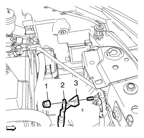 Vauxhall workshop manuals astra j engine engine electrical install the battery negative cable 3 and the battery wiring harness ground cable 2 asfbconference2016 Image collections