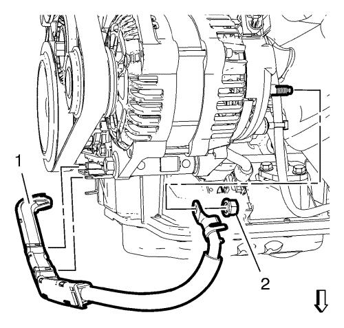 Vauxhall workshop manuals astra j engine engine electrical clip the alternator and starter cable to the sump bracket and position the alternator and starter cable to the alternator asfbconference2016 Image collections