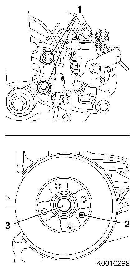 Vauxhall Workshop Manuals > Corsa C > F Rear Axle and Rear Wheel
