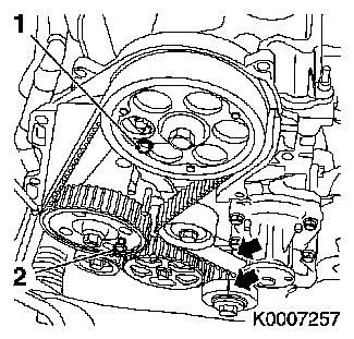 Valve lash petrol engine check and adjust together with J 459015 valve stem seals replace  y 17 dt with ac lhd besides Timing case remove and install moreover Remove and install lower section of toothed belt cover  z 14 xe with air conditioning lhd z 16 yng further Opel Corsa Utility Fuse Box Diagram. on vauxhall timing belt