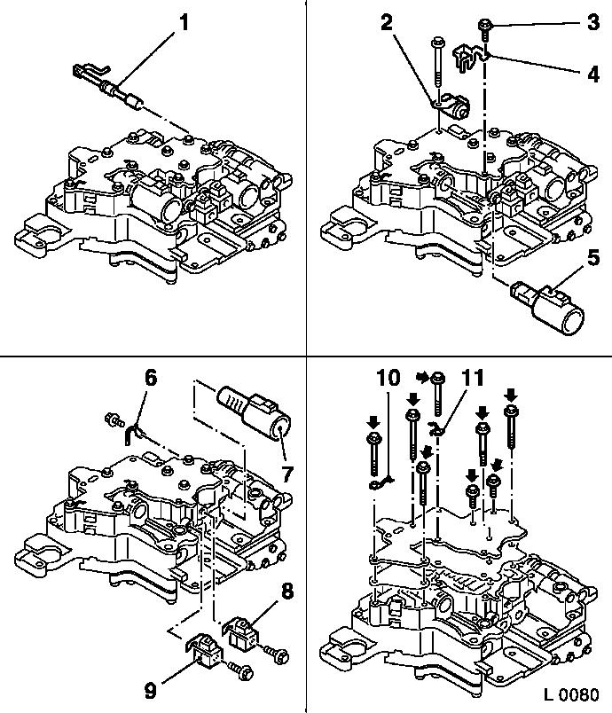 Overhaul valve body assembly  af13 Ii on pressure switch wiring diagram