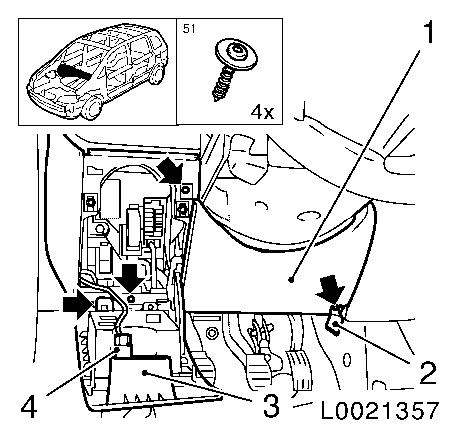 Relay frame engine  partment main fuse carrier remove and install also Replace lower instrument panel padding moulding left side furthermore Vauxhall Corsa Wiring Diagram Pdf as well Fuse Box Opel Zafira B additionally Opel Kadett Car. on fuse box corsa c