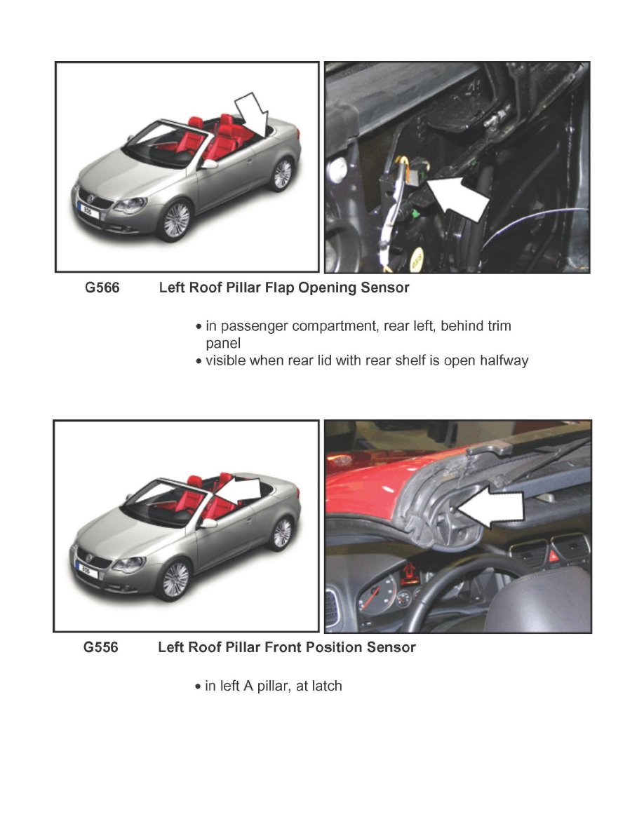 vw eos how to open roof