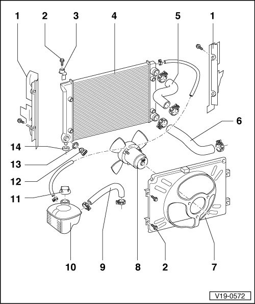 Show product further Cooling Diagram 183083 likewise Show product also 2002 Ford Taurus Engine Diagram as well Closed Cooling System Easy Drain. on engine cooling system parts