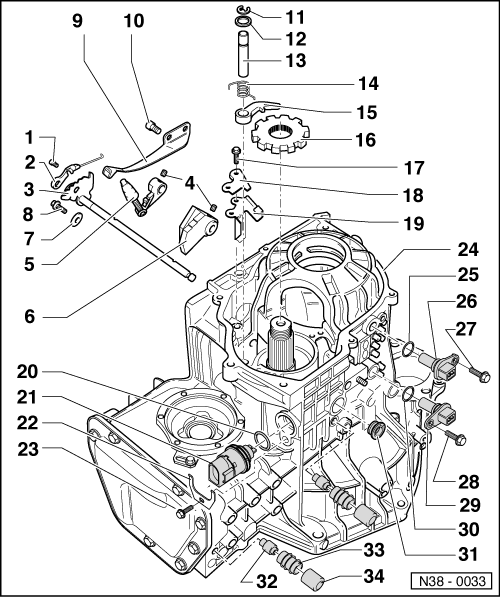 volkswagen workshop manuals u003e golf mk3 u003e power transmission rh workshop manuals com VW Beetle Transmission VW Bus Transmission
