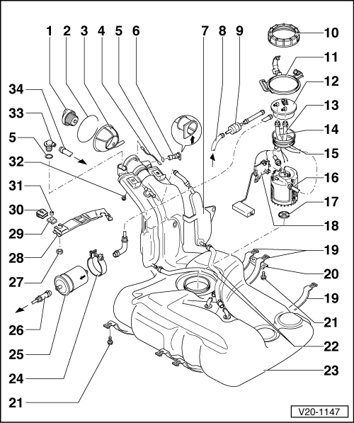 Volkswagen Workshop Manuals Golf Mk3 Power Unit 4 Cyl