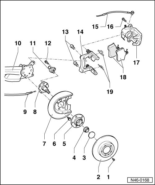 Volkswagen Workshop Manuals > Golf Mk4 > Brake systems > Brake
