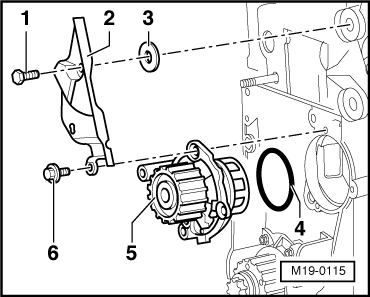 Removing_and_installing_coolant_pump