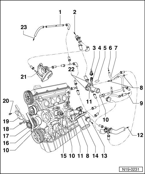 Mechanics > Engine Cooling Removing And Installing Parts Of System Side: Vw Bora Engine Diagram At Submiturlfor.com