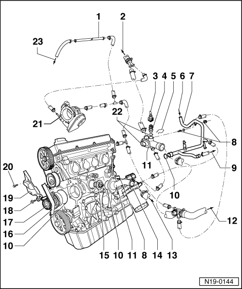 Volkswagen Workshop Manuals Golf Mk4 Engine 4 Cylinder