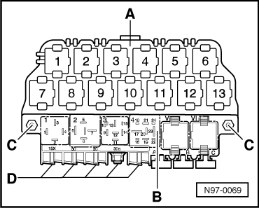 wiring diagram audi a4 with Removing And Installing Relay Plate And 13 Position Relay Carrier on Car Air Conditioner  pressor Clutch Not Engaging besides Removing and installing fuse holder together with T10731196 Under hood fuse box diagram 2000 buick as well Toyota 4runner Hilux Surf Wiring Diagram Electrical System Circuit 06 in addition 2002 Audi S4 Engine.