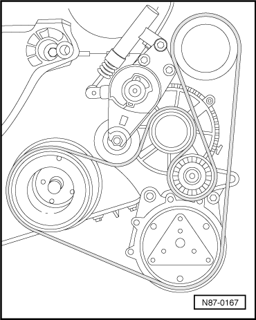 Routing poly v Belt on volkswagen golf mk4 engine diagram