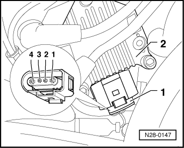 vw ignition coil wiring diagram volkswagen workshop manuals > golf mk4 > power unit > motronic check wiring between test box