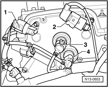 Checking fuel pressure regulator and holding pressure likewise mand unit for hydraulic unit remove and install as well Mk4 Golf Wiring Diagram also 942 besides Removing and installing camshaft adjuster. on mk4 intake manifold