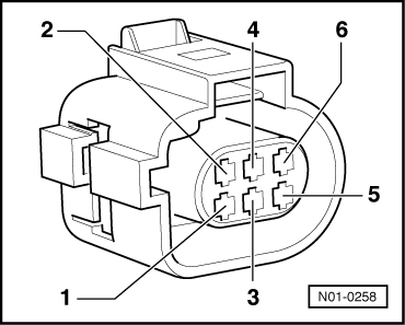 Checking  exhaust gas recirculation potentiometer g212 on volkswagen golf mk4 engine diagram