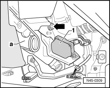 Removing_and_installing_esp_sensor_unit__g419 on Abs Brake System Diagram