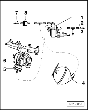 Turbocharger wiring connections on mk4 intake manifold