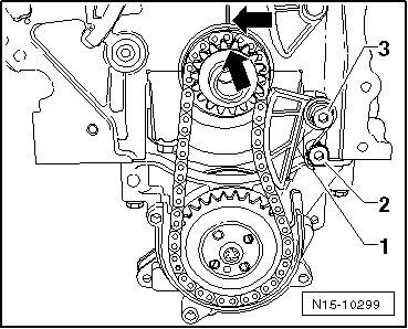 Removing_and_installing_timing_chain_and_chain_drive_for_oil_pump_(engine_codes_bag_blp_blf)