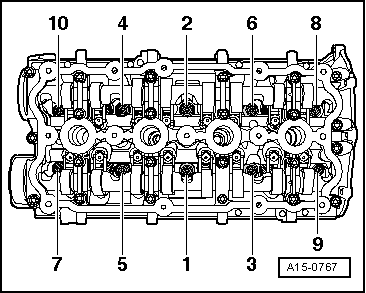 Installing cylinder head on spanner gasket