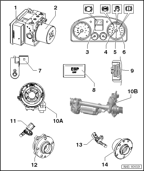 Volkswagen Workshop Manuals Golf Mk5 Brake Systems Abs Adr