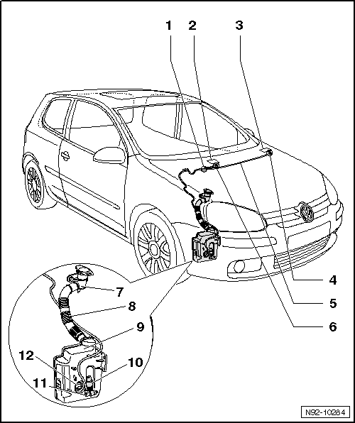 Wiring Diagram Golf 4 1 6 : Volkswagen workshop manuals gt golf mk vehicle electrics