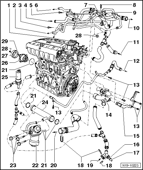 vw jetta cooling system diagram within diagram wiring and engine