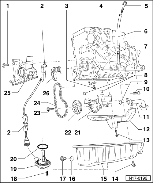 volkswagen golf mk5 engine diagram volkswagen workshop manuals > golf mk5 > power unit > 4 ...