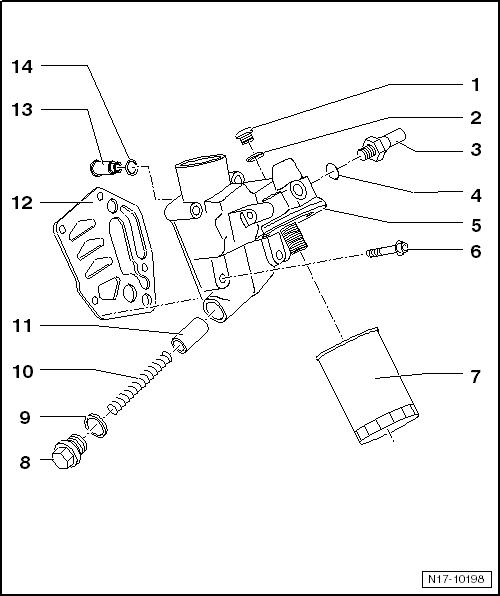 volkswagen workshop manuals u003e golf mk5 u003e power unit u003e 4 cylinder rh workshop manuals com 2005 VW Beetle Engine Diagram 1972 VW Engine Diagram