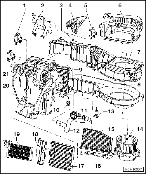 volkswagen workshop manuals  u0026gt  golf mk6  u0026gt  heating