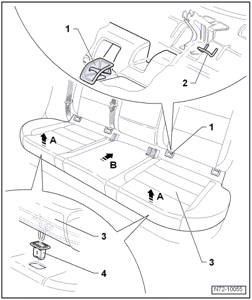Vw golf seat diagram seat wiring diagrams instructions volkswagen workshop manuals golf mk6 body general repairs cheapraybanclubmaster Choice Image