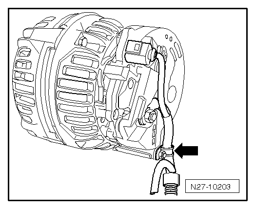 Remove Alternator Wiring Connections