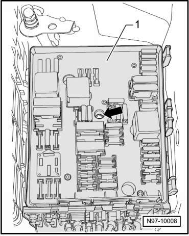 golf mk6 2499 volkswagen workshop manuals \u003e golf mk6 \u003e vehicle electrics vw golf mk6 fuse box diagram at edmiracle.co