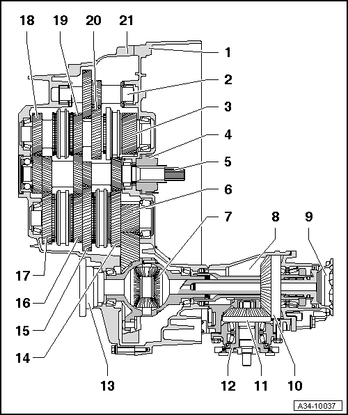 Transmission 6 Sd Manual Gearbox 02q Volkswagen R Gmbh Mechanics Operation Construction Diff Dismantling And Embling