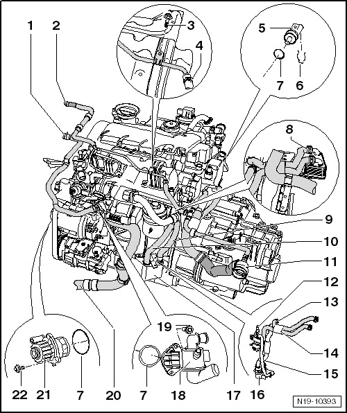 volkswagen workshop manuals u003e golf mk6 u003e power unit u003e 4 cylinder rh workshop manuals com 1981 vw rabbit diesel engine diagram vw t4 2.4 diesel engine diagram